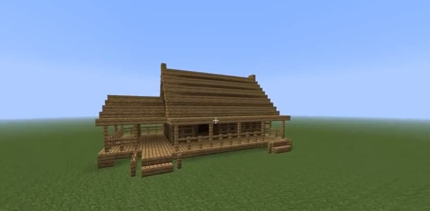 How to build a fast wooden house minecraft house design for Small house design made of wood