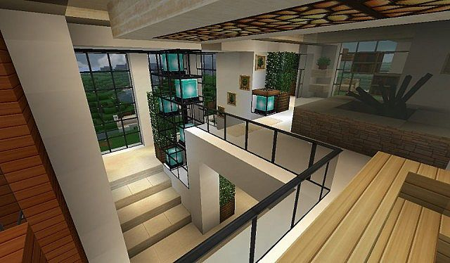 Modern house with style minecraft build 10 minecraft for Minecraft house interior living room