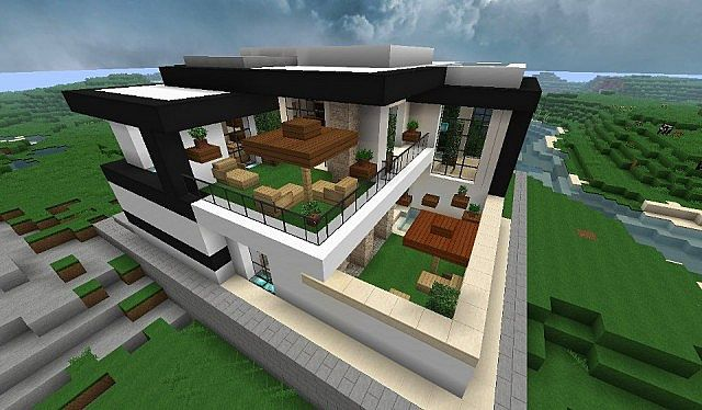 Modern house with style minecraft build 4 Minecraft House Design
