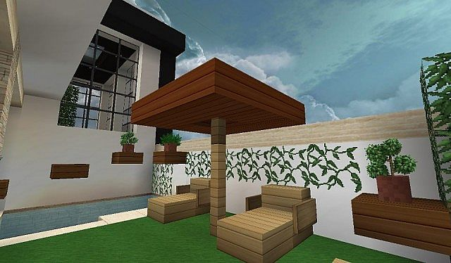 Modern house with style minecraft build 5 Minecraft House Design