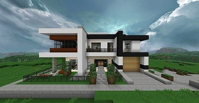 Modern house with style minecraft build 640x330 - 31+ Very Small Modern House Designs  Pics