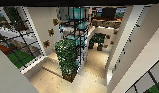 Modern house with style minecraft build 8 minecraft for How to build a modern house
