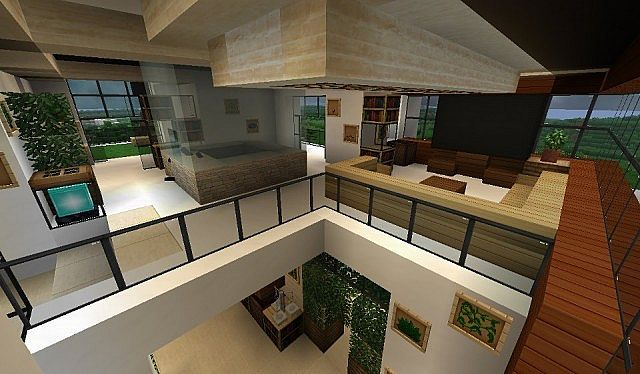 Modern house with style minecraft build 9 minecraft for How to build a modern house