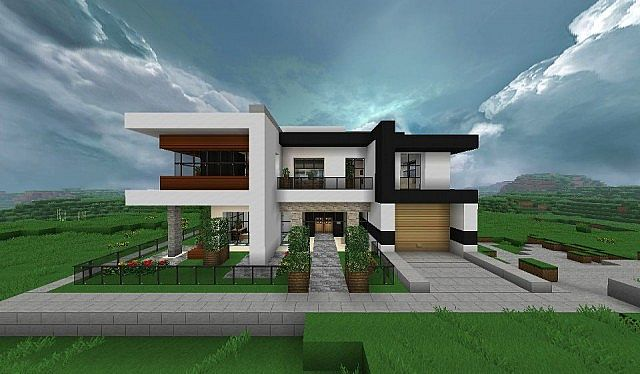 Modern home very comfortable minecraft house design for How to build a modern home