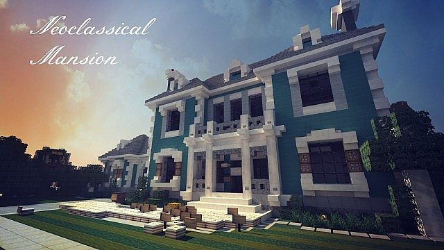 Neoclassical Mansion Minecraft House Design