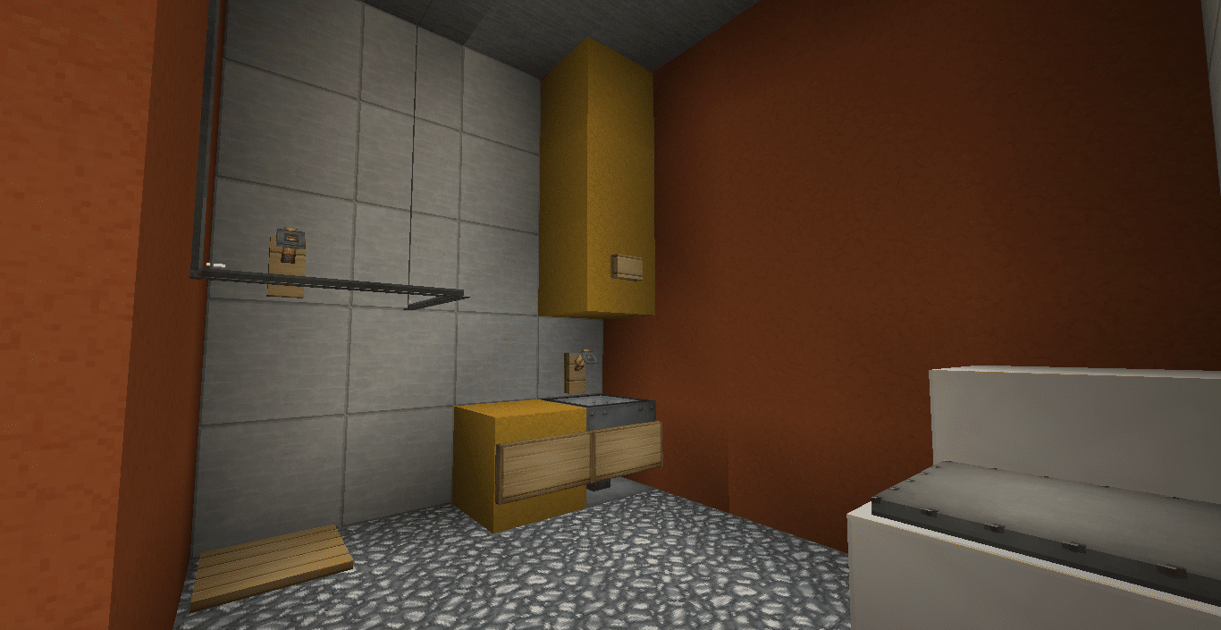 Minecraft modern bathroom minecraft tutorial how to for Bathroom designs minecraft