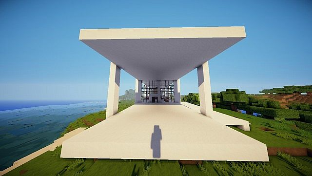 Minecraft Farnsworth House house design build 3