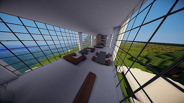Minecraft Farnsworth House house design build 5