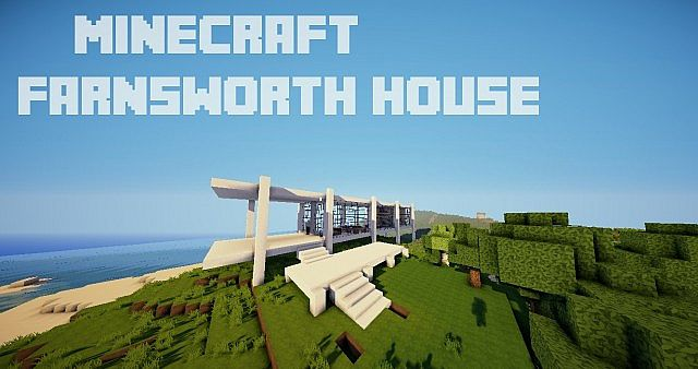 Minecraft Farnsworth House house design build