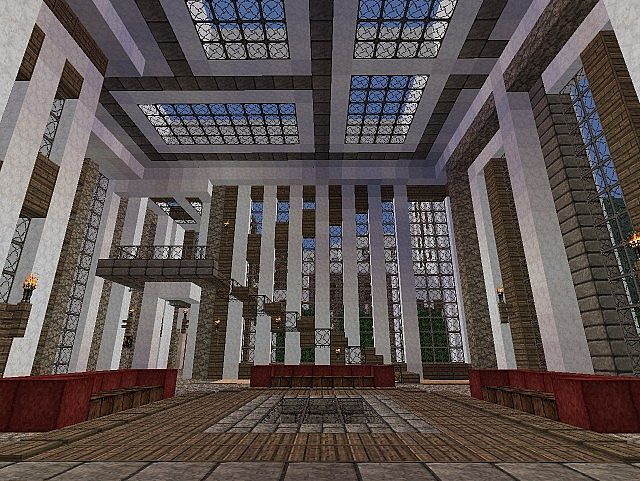 Pevilon Manor Modern Mansion Custom Terrain minecraft house 4