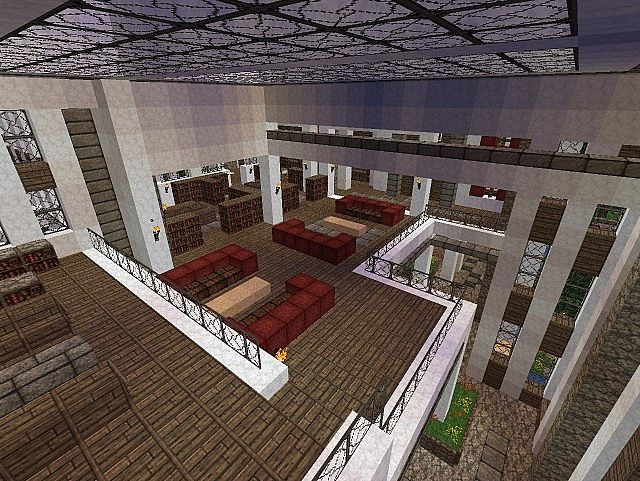 Pevilon Manor Modern Mansion Custom Terrain minecraft house 6