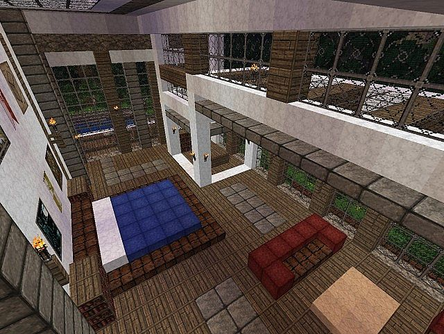 Pevilon Manor Modern Mansion Custom Terrain minecraft house 7