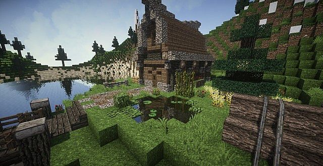 Medieval House on a little Island minecraft ideas 4