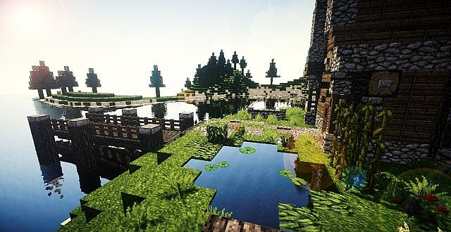 Medieval House On Island Minecraft Design