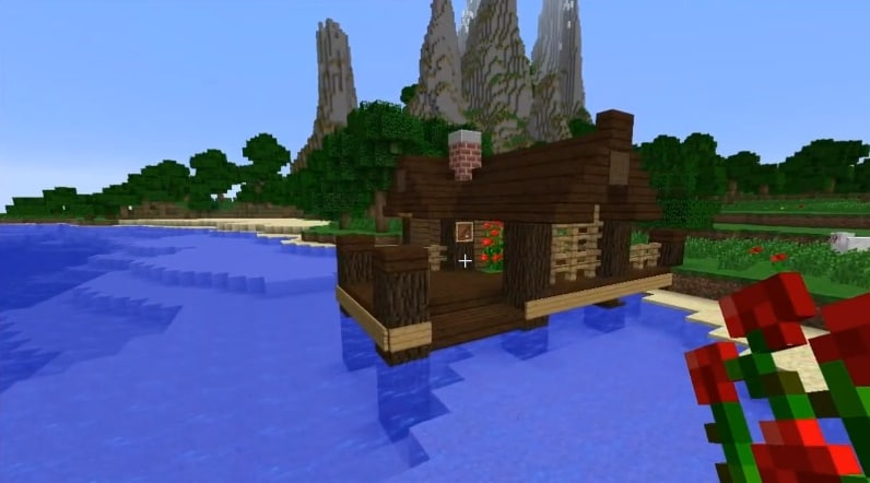 how to make a small fishing hut – minecraft house design