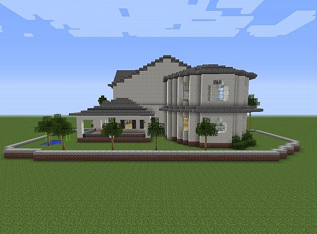 Townhouse mansion minecraft house design for Modern building design minecraft