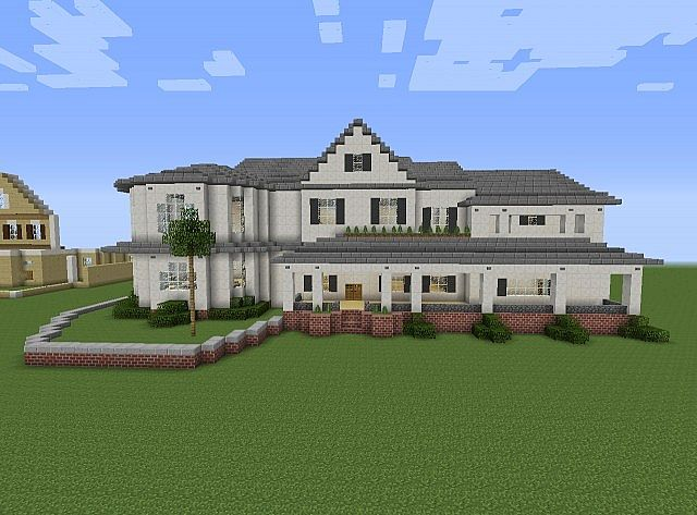 Townhouse mansion minecraft house design Huge modern homes