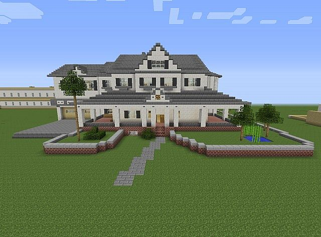 Townhouse mansion minecraft house design for Minecraft home designs