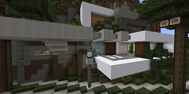 Tranquility A Modern Cliffside Home minecraft house design 3