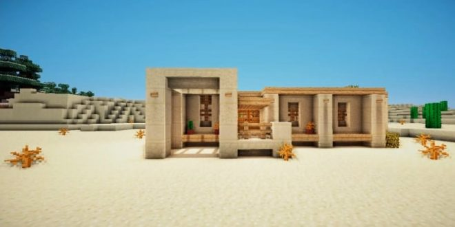 how to make a desert survival house minecraft house design. Black Bedroom Furniture Sets. Home Design Ideas
