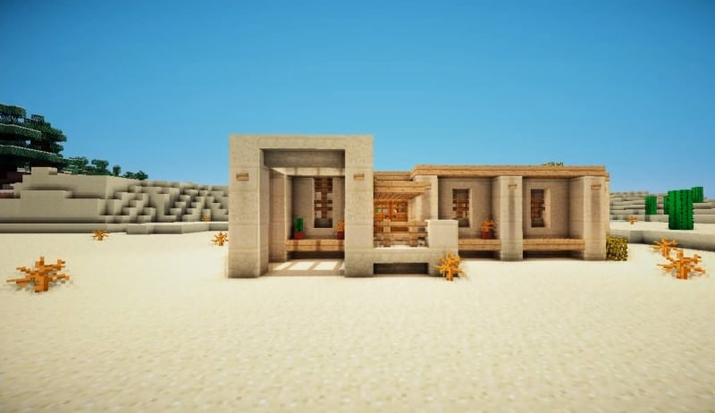 How To Make a Desert Survival House | Minecraft House Design