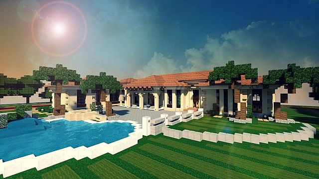 Mediterranean Estate Minecraft house ideas 2