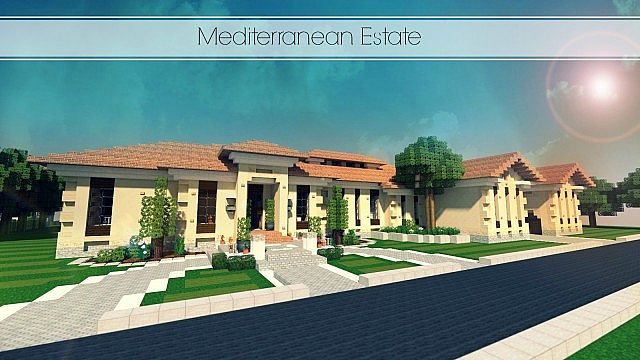 Mediterranean Estate Minecraft house ideas
