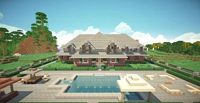 Traditional brick house minecraft house design for Traditional house building