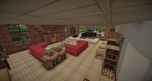 Traditional Brick House Minecraft building 5