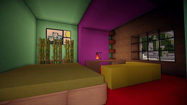 Cascade modern mansion minecraft building ideas 10