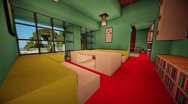 Cascade modern mansion minecraft building ideas 11