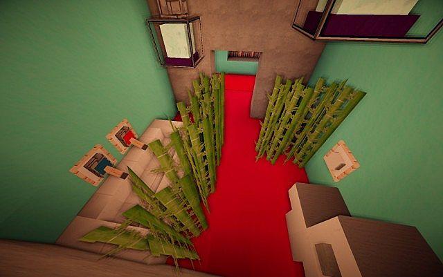 Cascade modern mansion minecraft building ideas 15