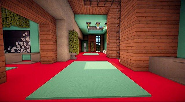 Cascade modern mansion minecraft building ideas 17
