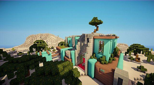 Cascade modern mansion minecraft building ideas 2