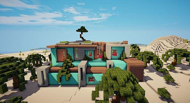 Modern Mansion – Minecraft House Design