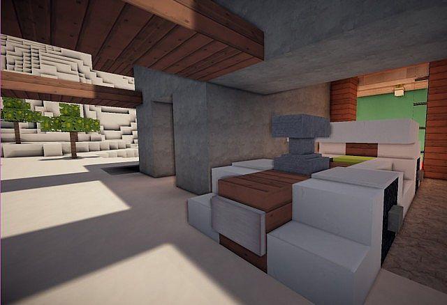 Cascade modern mansion minecraft building ideas 5