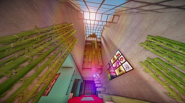 Cascade modern mansion minecraft building ideas 6