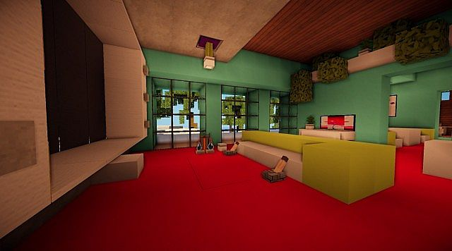 Cascade modern mansion minecraft building ideas 9