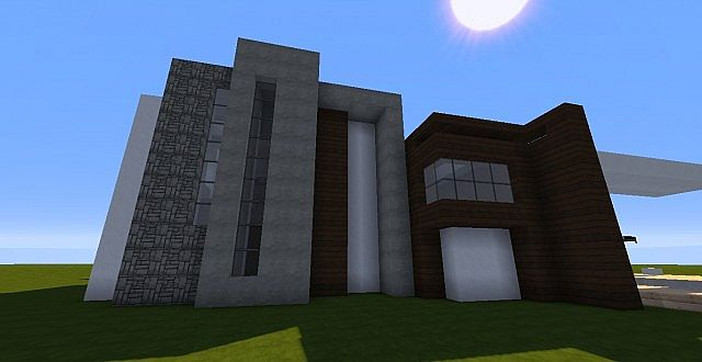 Novus - Modern House minecraft building ideas home 10