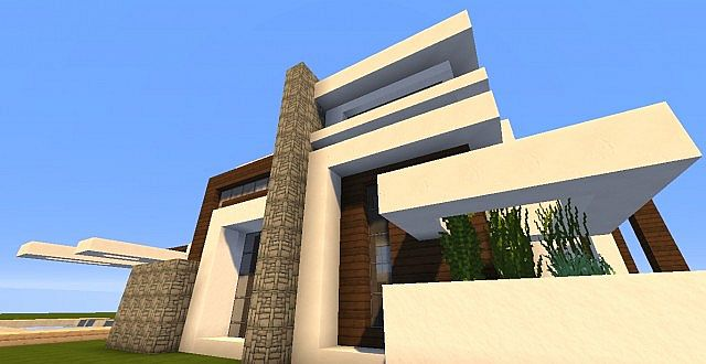 Novus - Modern House minecraft building ideas home 6