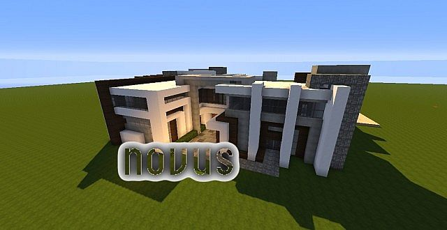 Novus - Modern House minecraft building ideas home