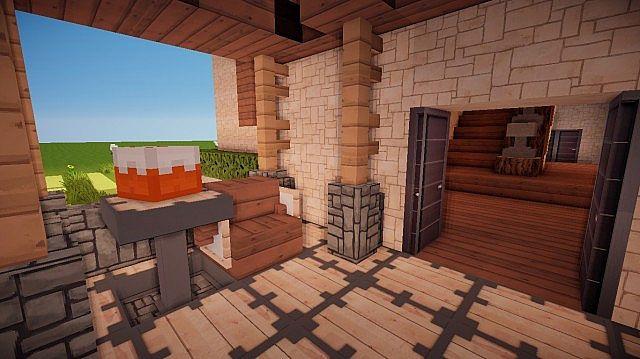 Small Suburban House Minecraft building ideas 3