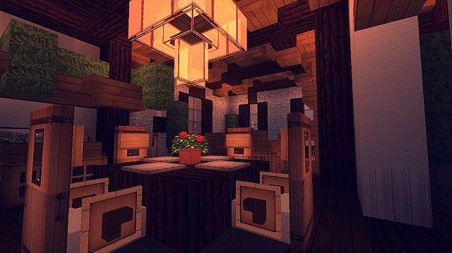 Contemporary Craftsman Home minecraft house ideas 11