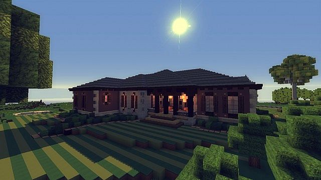 Contemporary Craftsman Home minecraft house ideas 3