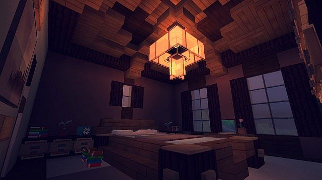 Contemporary Craftsman Home minecraft house ideas 8