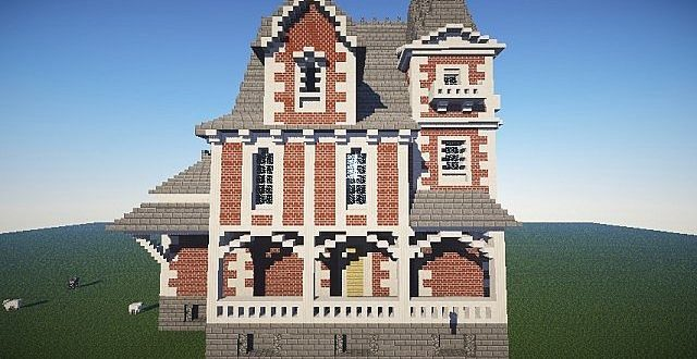 The old ladies house brick minecraft house design - Old home design ideas ...