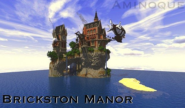 Brickston Manor minecraft house design ideas