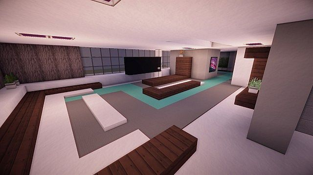 Fusion modern concept mansion minecaft house design 11