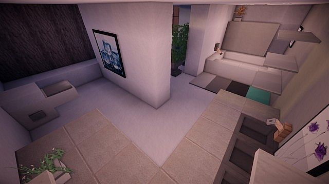 Fusion modern concept mansion minecaft house design 12