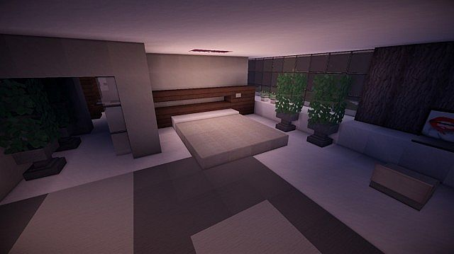 Fusion modern concept mansion minecaft house design 13